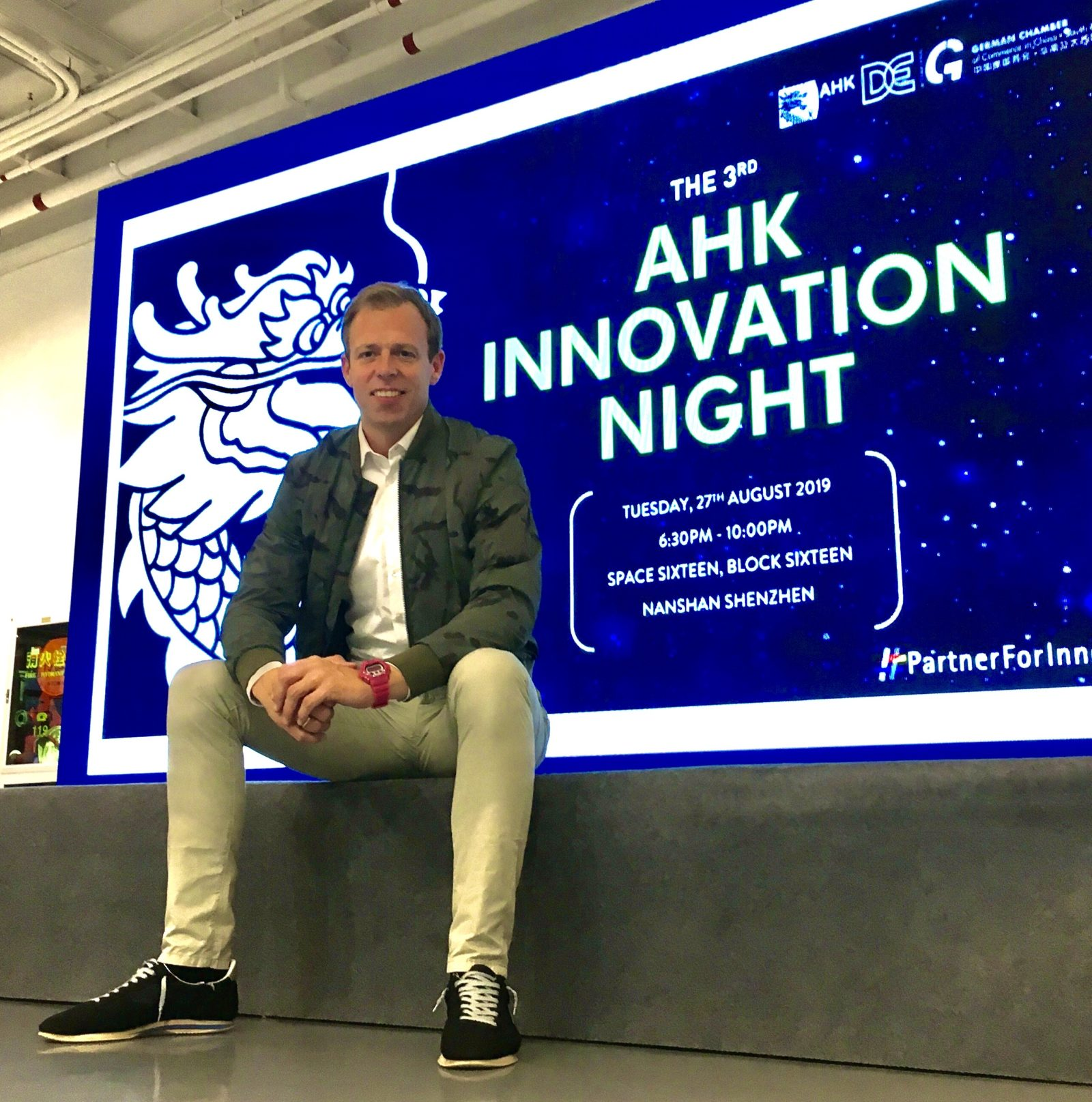 Alexander Witte bei der AHK Innovation Night in Shenzhen